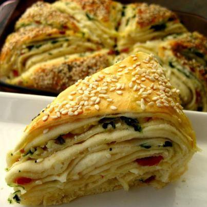 البرك بالجبنة - وصفة البرك بالجبنة على الطريقة التركية - طريقة عمل البرك بالجبنة