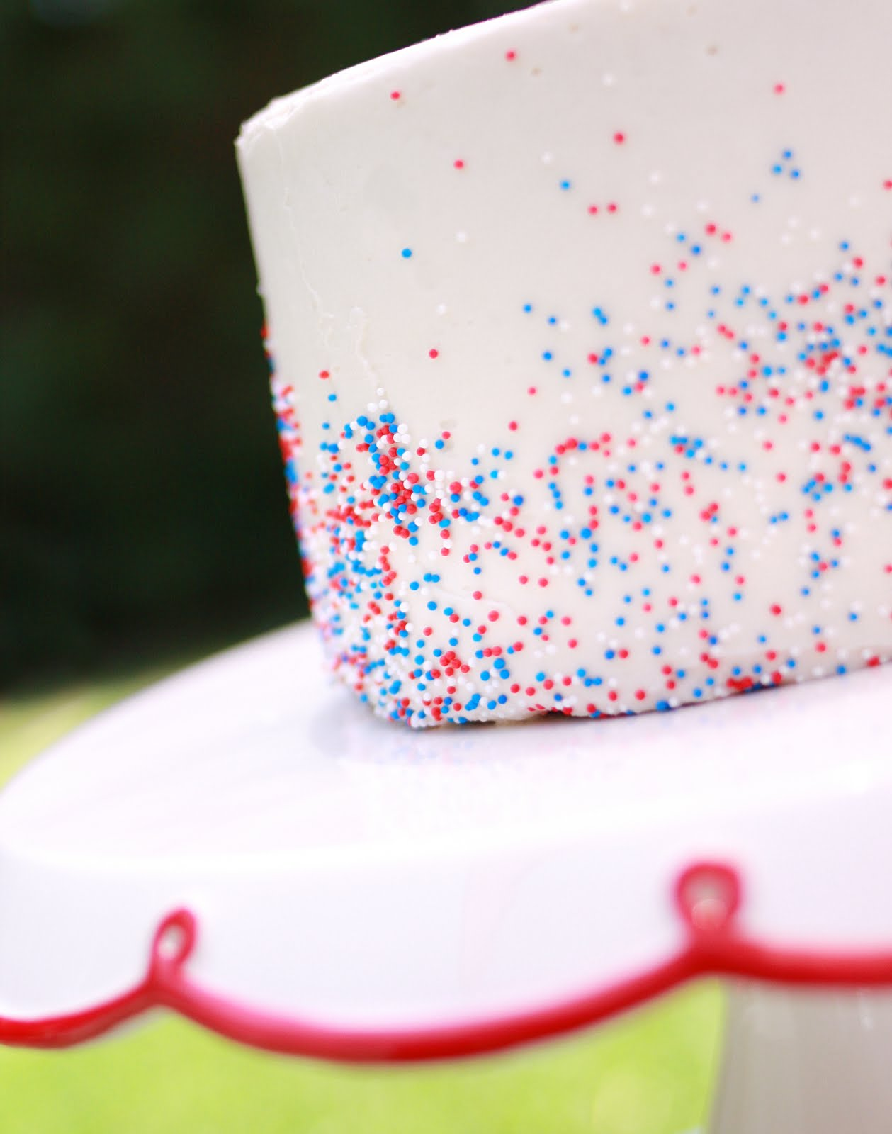 Red White And Blue Cake Paper And Cake Paper And Cake