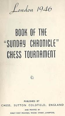 Portada del libro del Torneo de Ajedrez de Londres 1946