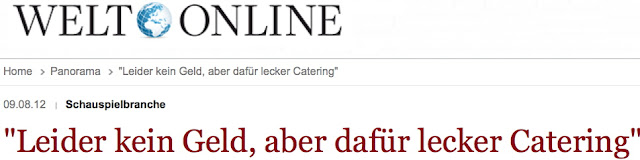 Link zum Artikel: &quot;Leider kein Geld, dafr lecker Catering&quot;