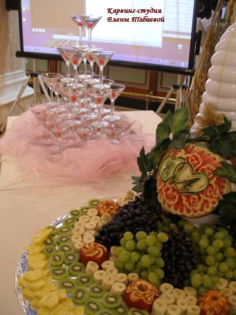 Фруктовый карвинг свадьба карвинг-студия Елены Табаевой