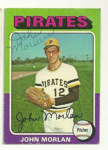 John Morlan 1975 baseball card