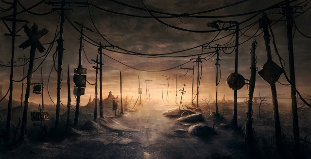 desolate road,digital art,cool scenery