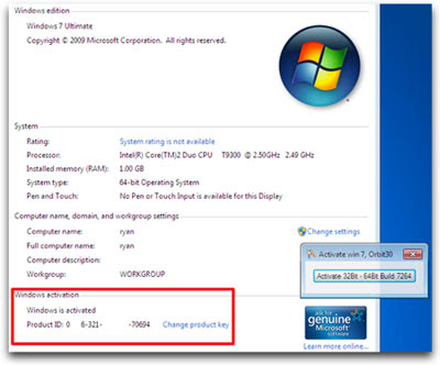 Windows 7 Loader + Activator v2.0.6 Reloaded - DAZ [Team Rjaa]