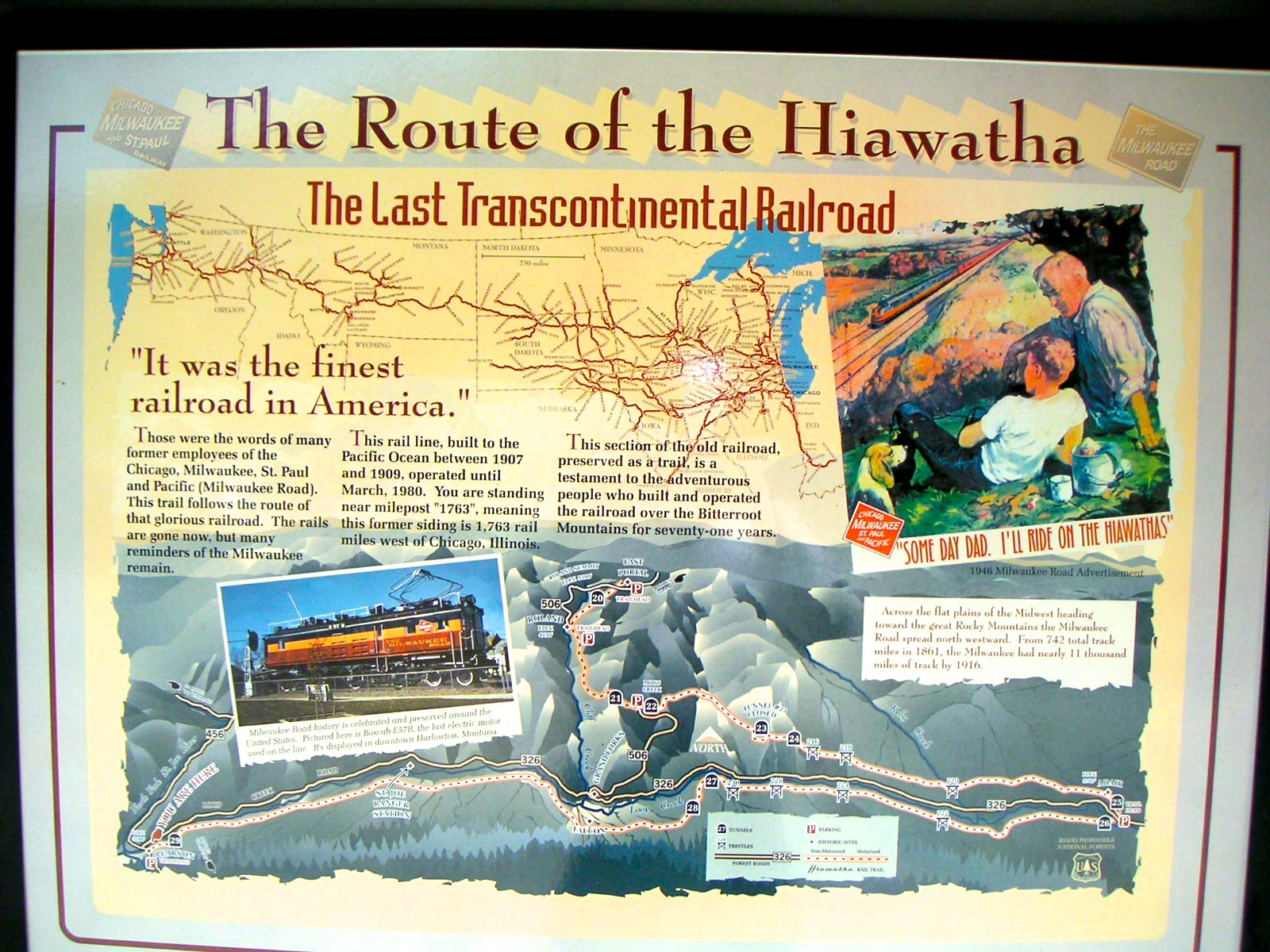 chuck s adventures biking idaho s hiawatha trail the hiawatha originated henry wadsworth longfellow s epic 1855 poem song of hiawatha the milwaukee road railroad chose that because of