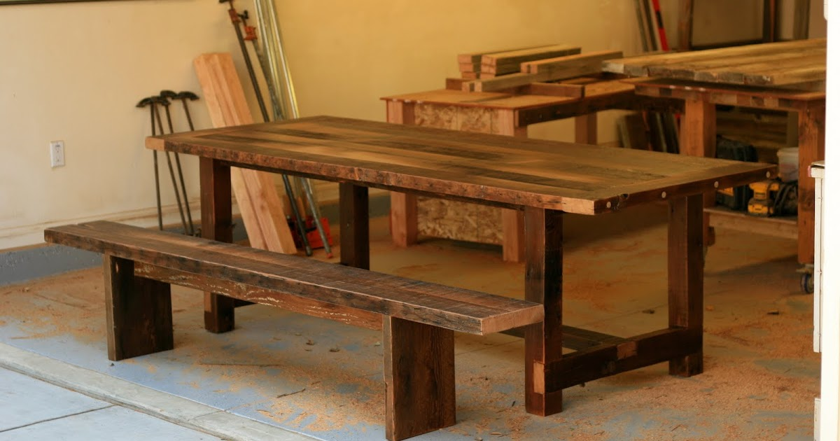 exchange reclaimed wood furniture echo park 8ft table benches