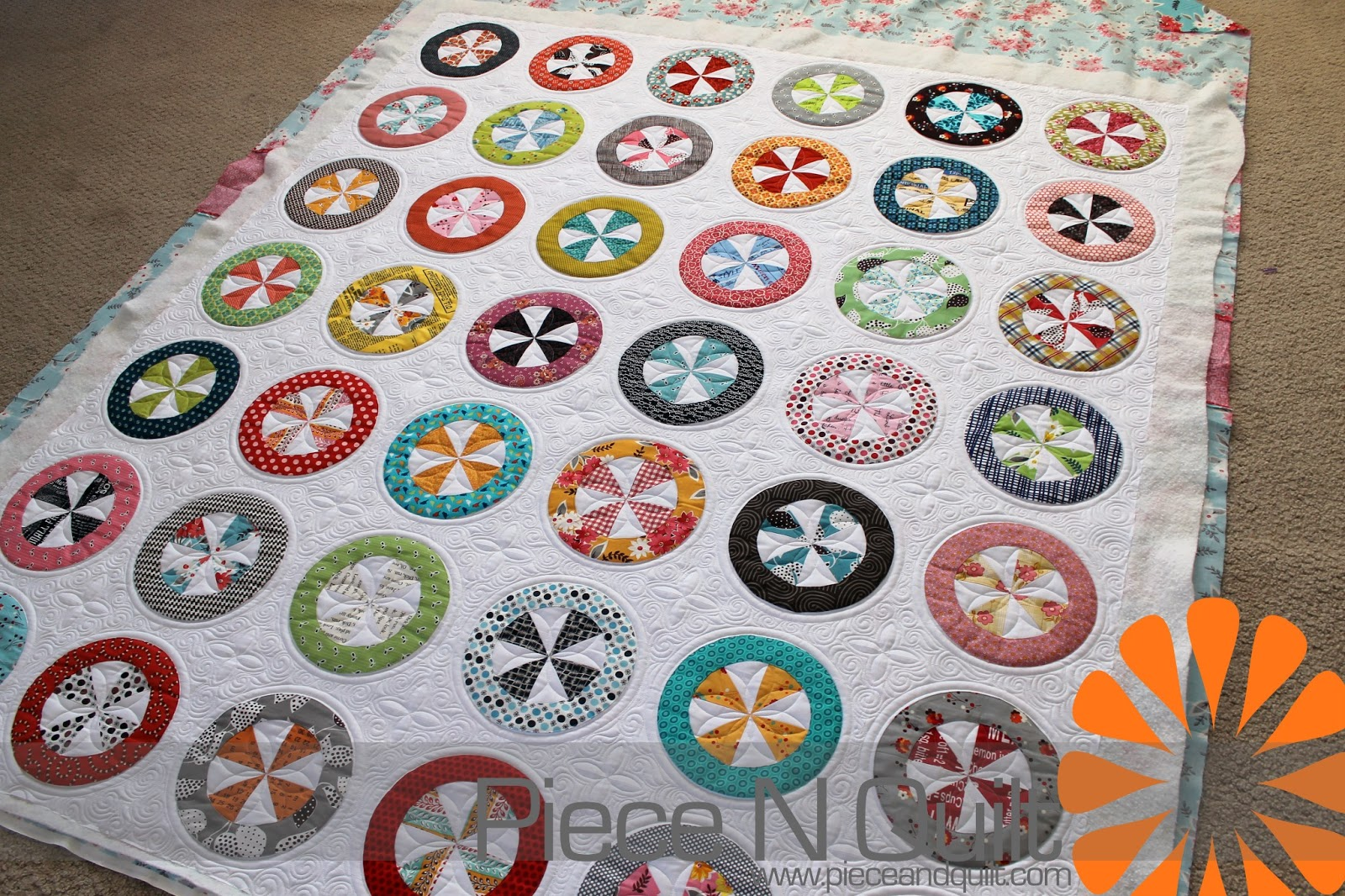 how to quilt circles by machine