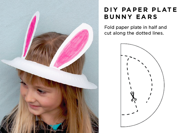 Maiko nagao diy paper plate easter bunny ears in 2 for Easter bunny hat template