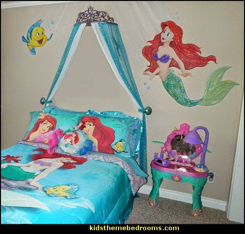 themed bedroom decorating ideas ariel themed bedroom decorating ideas