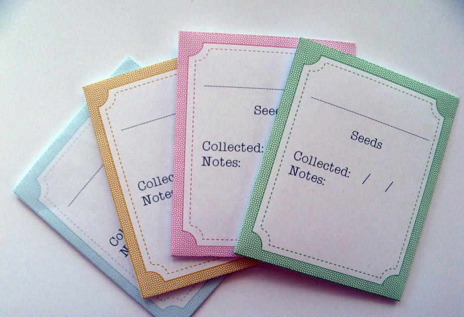 Transformative image throughout free printable seed packets