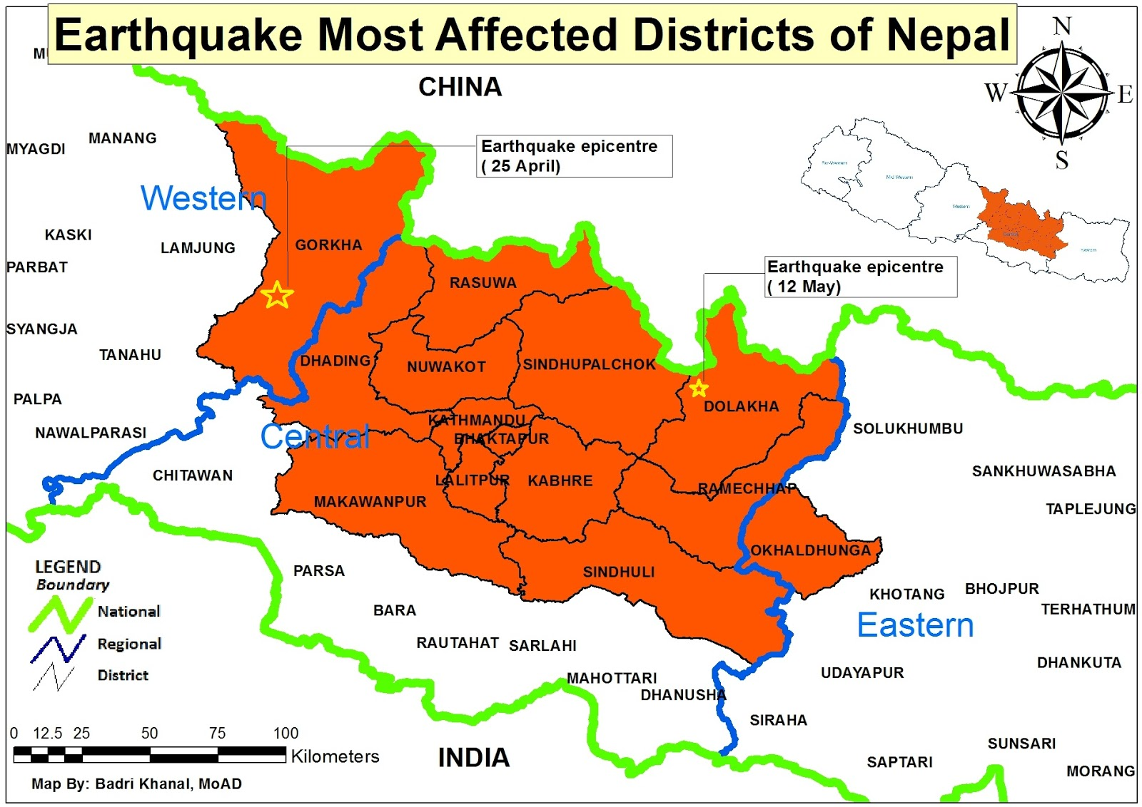 Earthquake most affected districts of nepal aggregation of an earthquake most affected districts of nepal gumiabroncs Choice Image