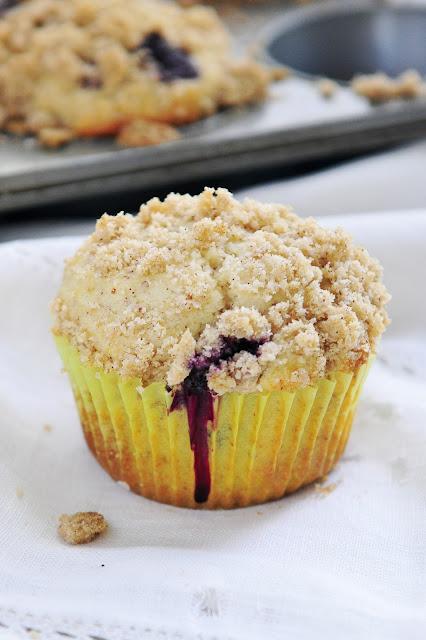 Simply Gourmet: 290. Gluten Free Blueberry Streusel Muffins