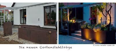 Privatgarten_Pflanztrog_Terrasse_Granitstufen_alter Granit_Lärchenholzdeck