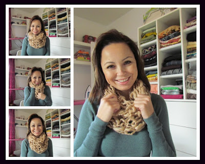 DIY Cowl, easy knitting, spool knitting, loom knitting, easy crafting, DIY scarf