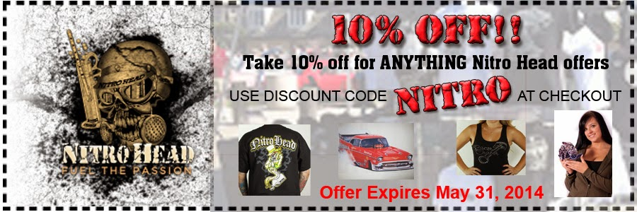 10 Percent Off everything Nitro Head offers at online store!