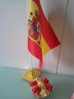 Cupcake España con bandera