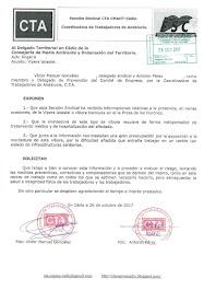 Informamos al Delegado Territorial en Cádiz de la Consejería de Medio Ambiente y Ordenación del Ter
