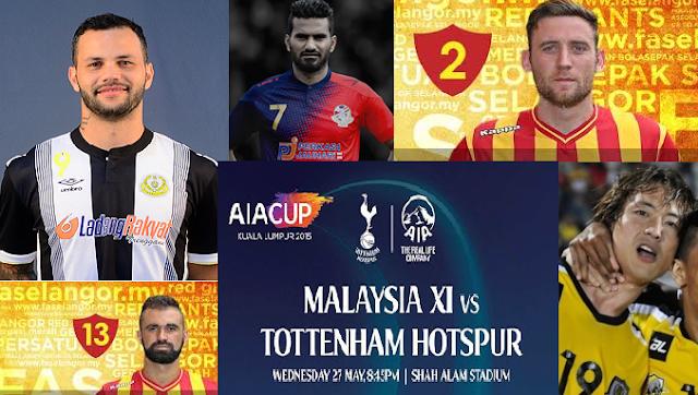 malaysia vs spurs 2015