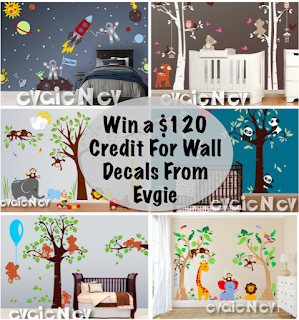 Enter to win the Evie Wall Decal Giveaway. Ends 6/9