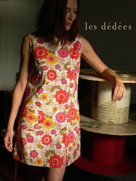 les dedees vintage recup creations robes d 39 t 70 pop marguerite et liberty ch ri by ben. Black Bedroom Furniture Sets. Home Design Ideas