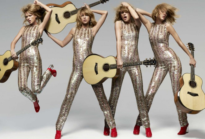 Taylor Swift glitters for Elle US June 2015