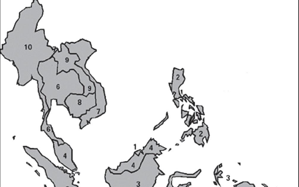 Guru Kelas 6 Kyai Hasyim Peta Asean Foto Gambar