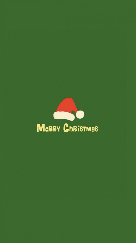 Minimalistic Merry Christmas Red Hat Green  Galaxy Note HD Wallpaper