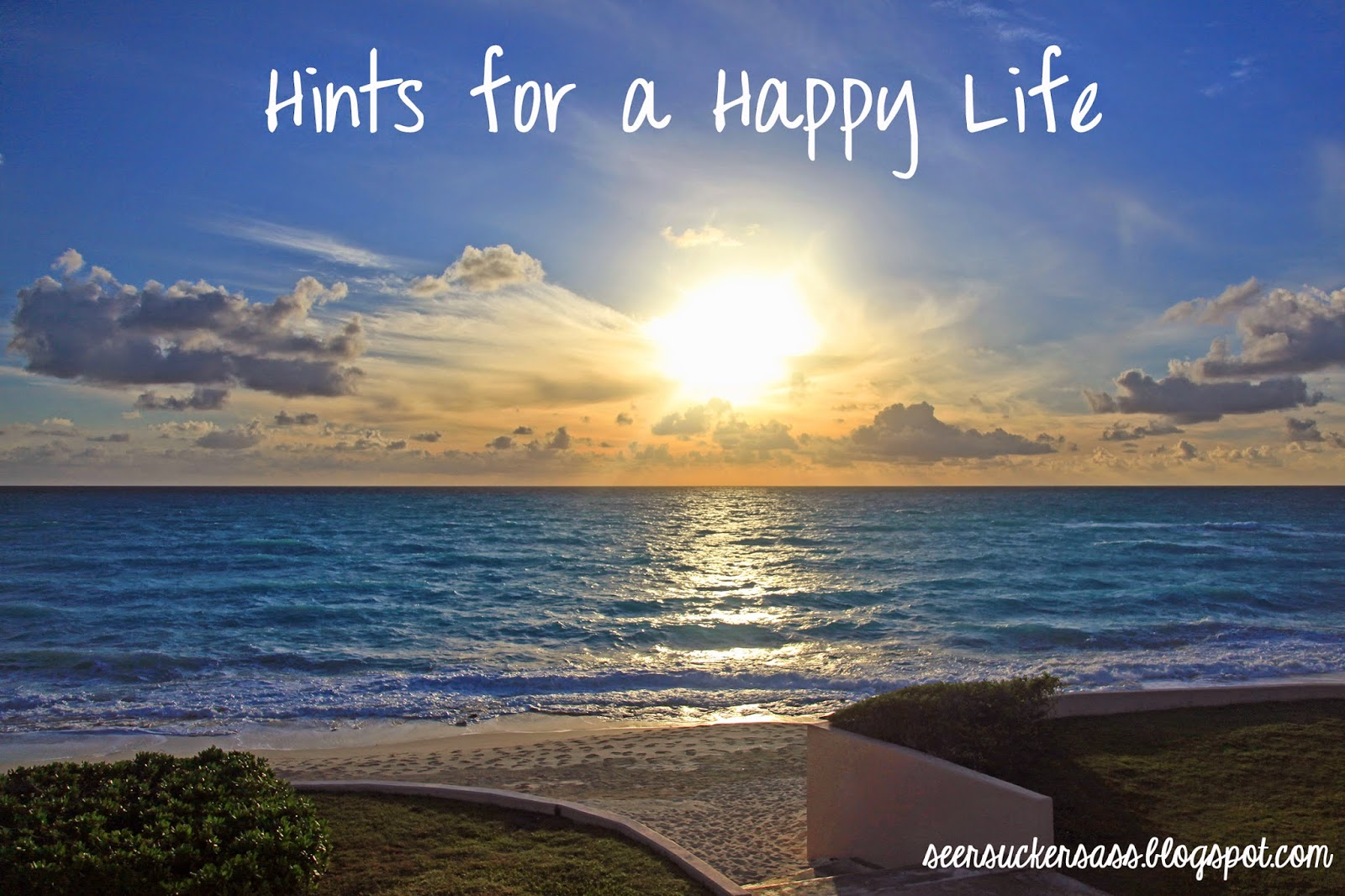 Hints for a Happy Life