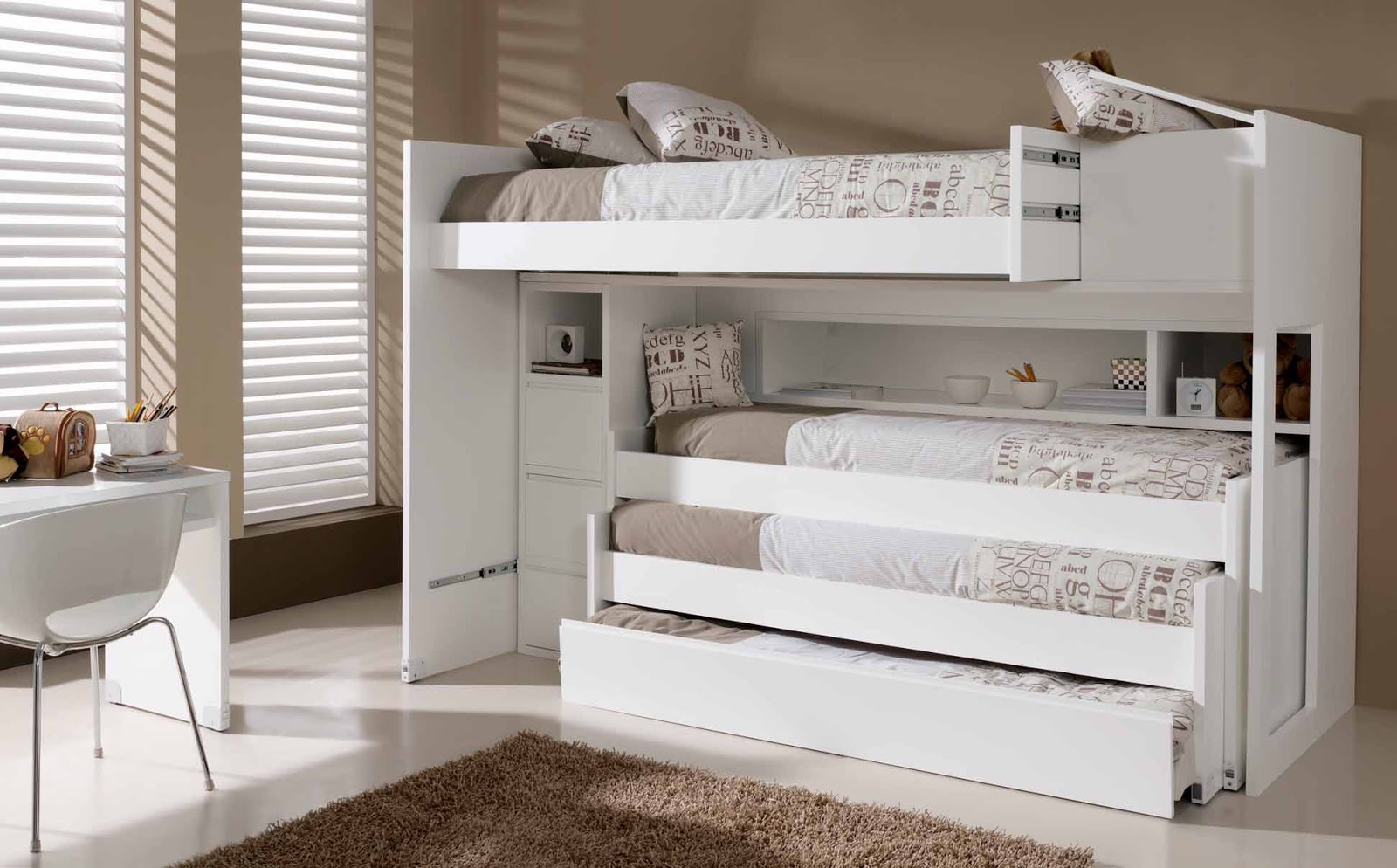 Literas con tres camas gallery of camas en tren y diferentes opciones with literas con tres - Litera para tres ...