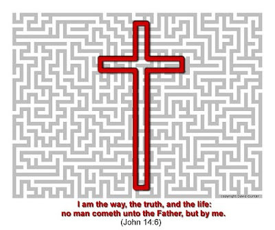 John 14 6 Cross Background