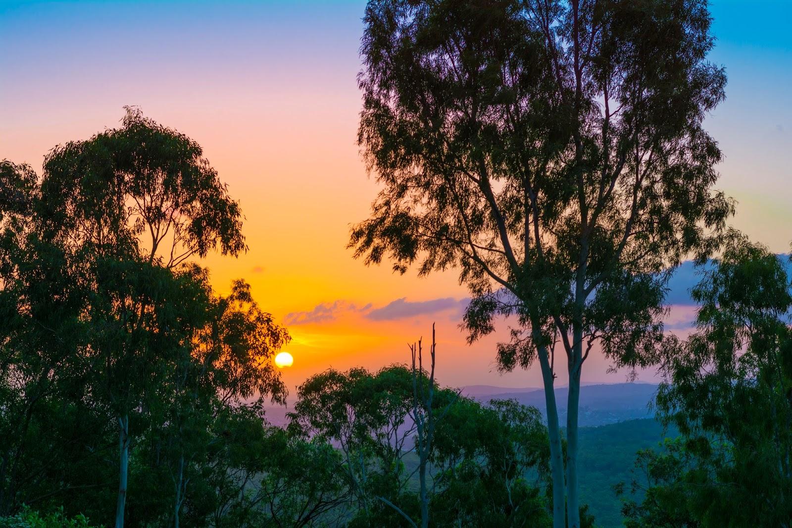 австралийский закат природа австралии