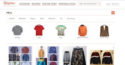 screenshot halaman depan website shopious.com