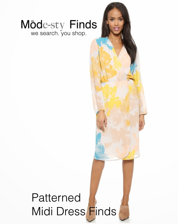 Modest pattern printed midi dress with sleeves | Shop Mode-sty #nolayering tznius tzniut jewish orthodox muslim islamic pentecostal mormon lds evangelical christian apostolic mission clothes Jerusalem trip hijab fashion modest muslimah hijabista
