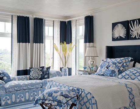 Webster road navy white bedrooms love for Household design curtain road