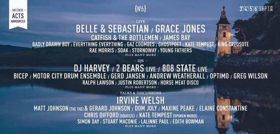 Festival No.6 announces line-up Catfish AND The Bottlemen