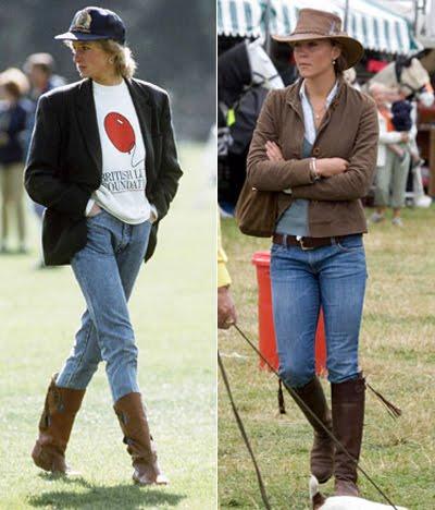 принцеса Даяна и Кейт Мидълтън в спортен стил