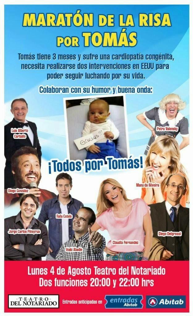 MARATON DE LA RISA: AGOSTO 4 - TEATRO DEL NOTARIADO - TODOS POR TOMAS