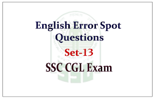 English Questions (Error Spot) with Explanations for SSC-CGL Exam 2015
