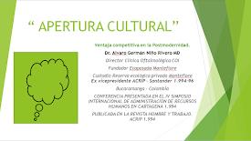 Teoría de la Apertura Cultural. APERTURA CULTURAL