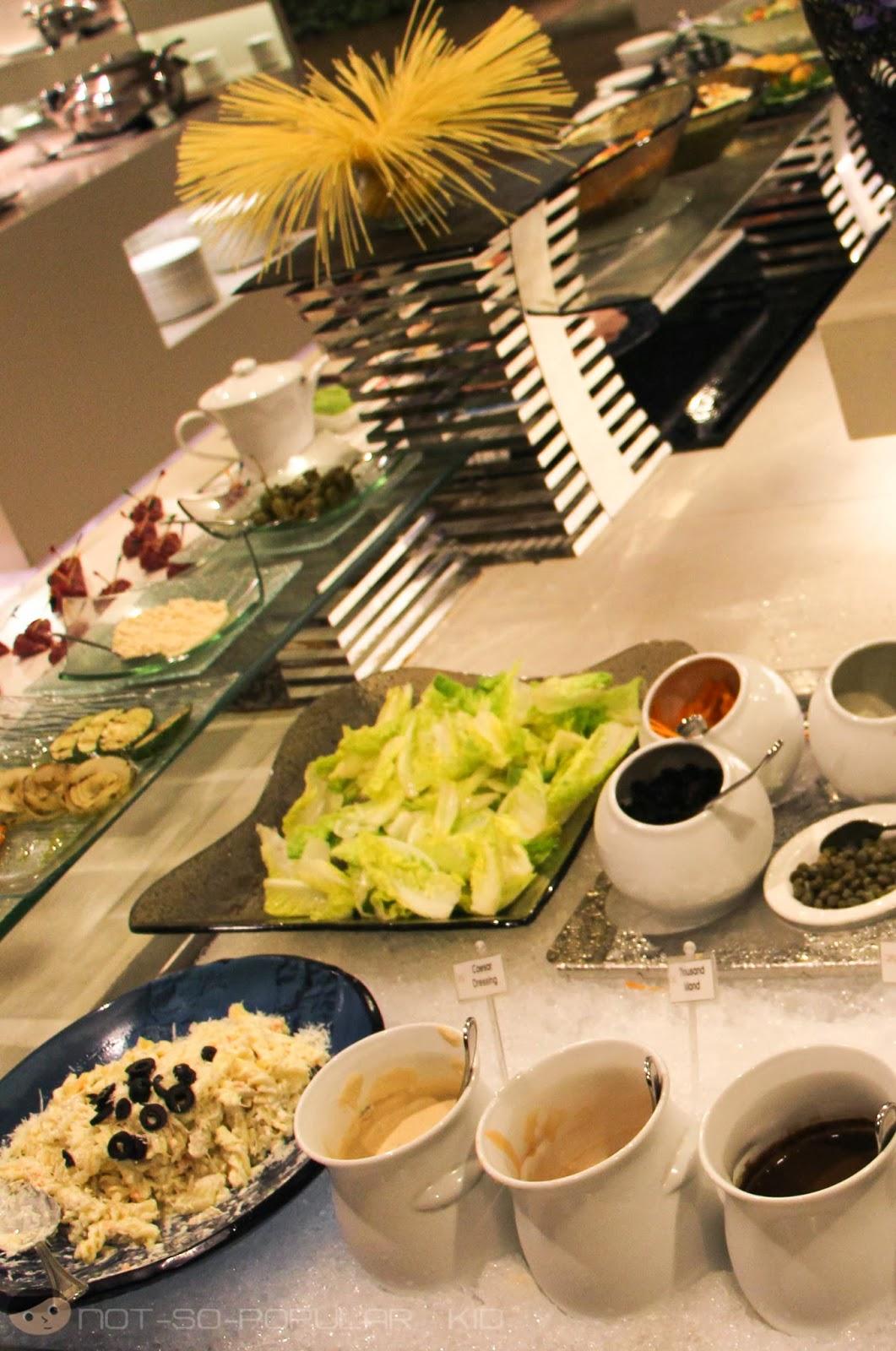 Salad Bar in Midas Hotel Restaurant