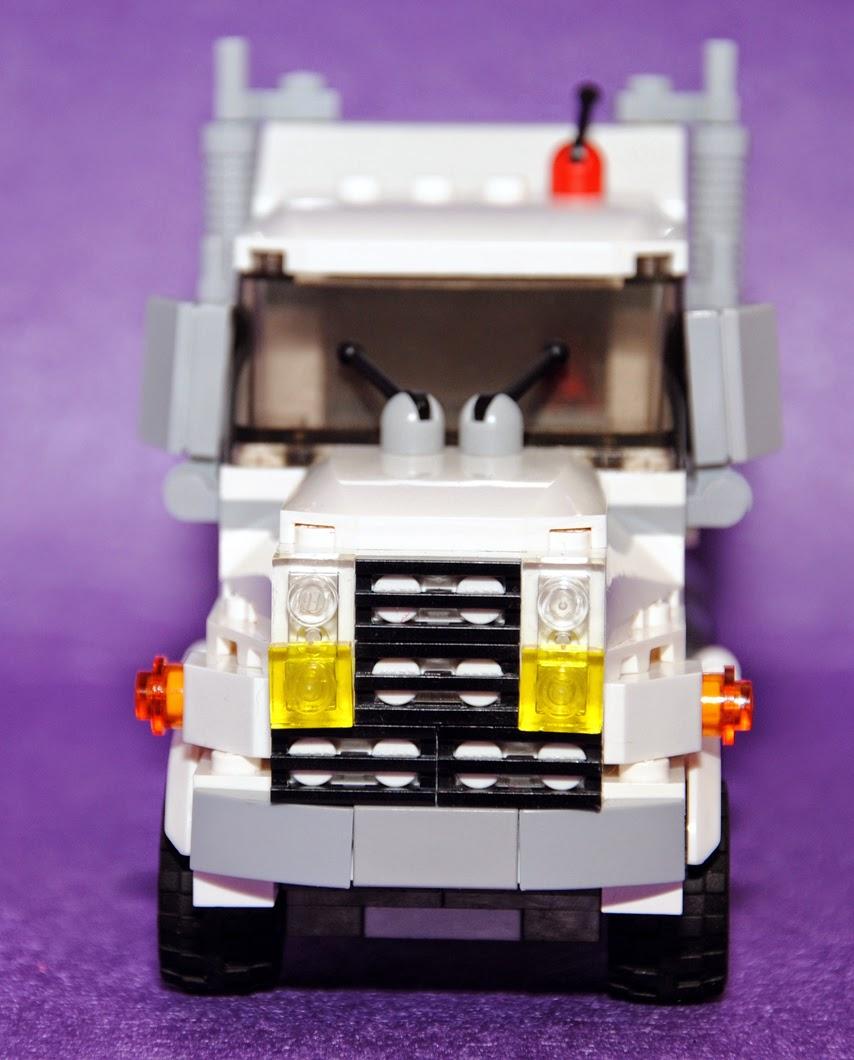 Vista frontal de la cabeza tractora