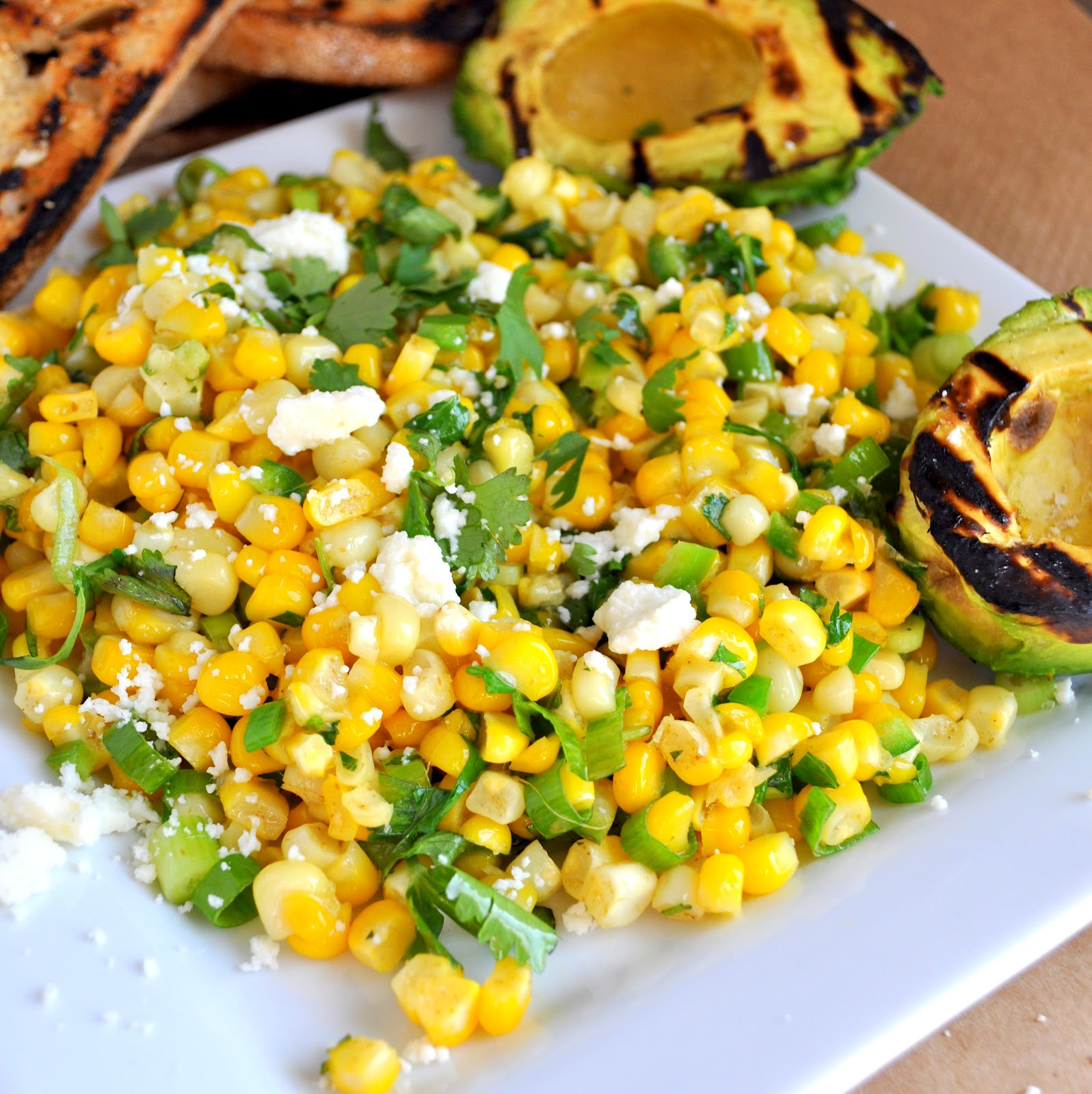BREANNA'S RECIPE BOX: Grilled Avocado and Corn Salad