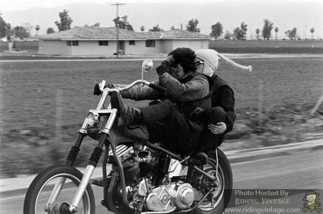 Hells Angels In The Wind Riding Vintage