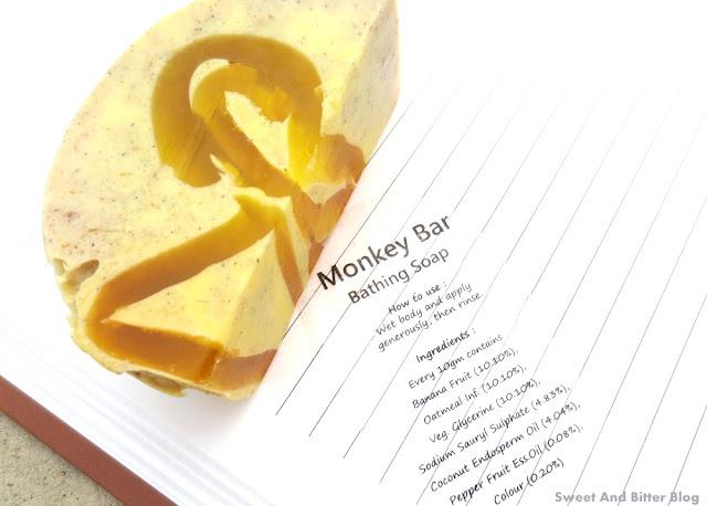 SaND for Soapaholics Monkey Bar Oatmeal Banana Soap Review