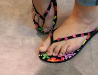Concrete Laminatboden Flip-Flops