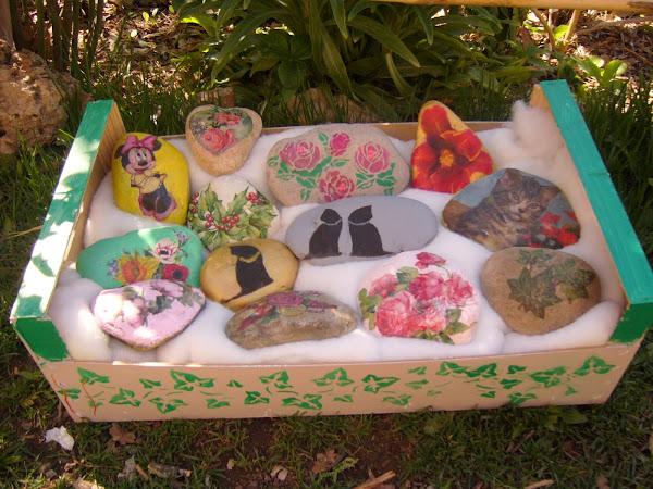Piedras pintadas hacer bricolaje es - Piedras pintadas para jardin ...