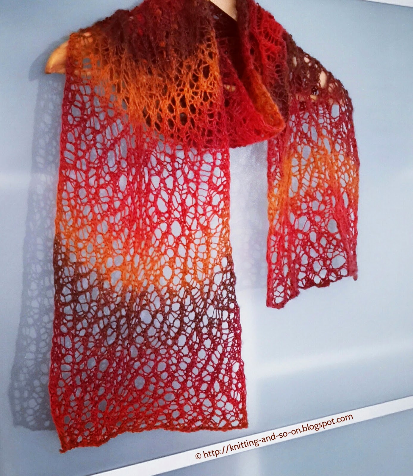 Knitting And So On Random Lace Scarf Winter Shawl Ws 06 Free Tutorial