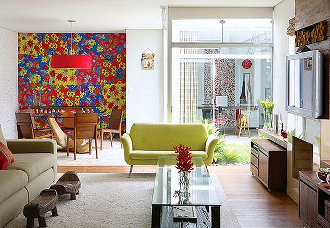 Casa coisas e fatos chita e cores fortes na decora o da for Programa para decorar casas
