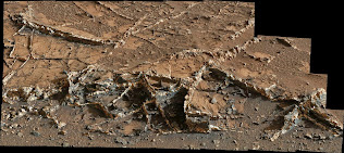 MINERAL VEINS ON MOUNT SHARP, MARS
