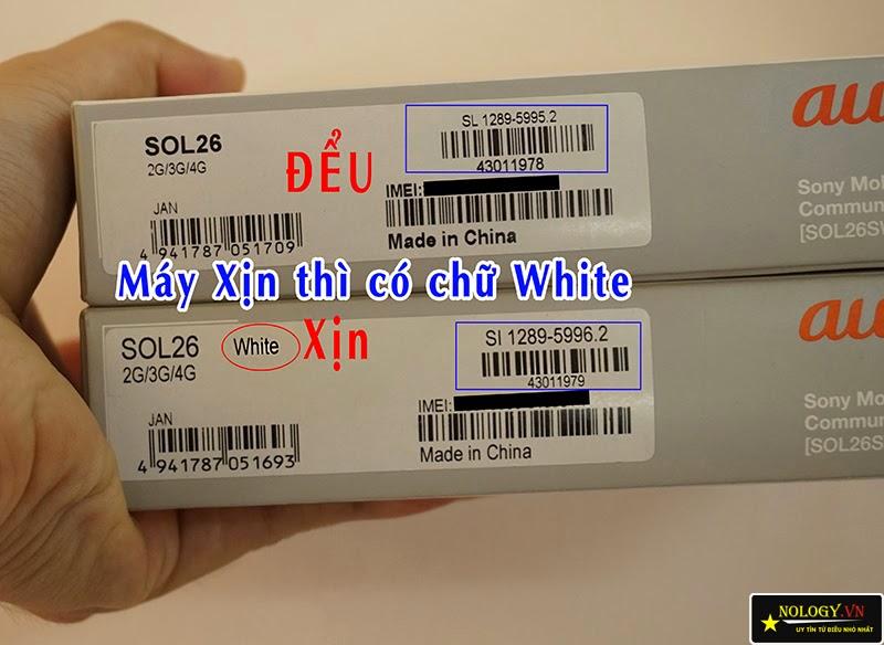 Cách phân biệt Sony Xperia Z3 Nhật Bản và hàng Trung Quốc